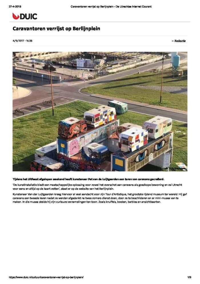 Caravantoren Verrijst Op Berlijnplein De Utrechtse Internet Courant Page 1