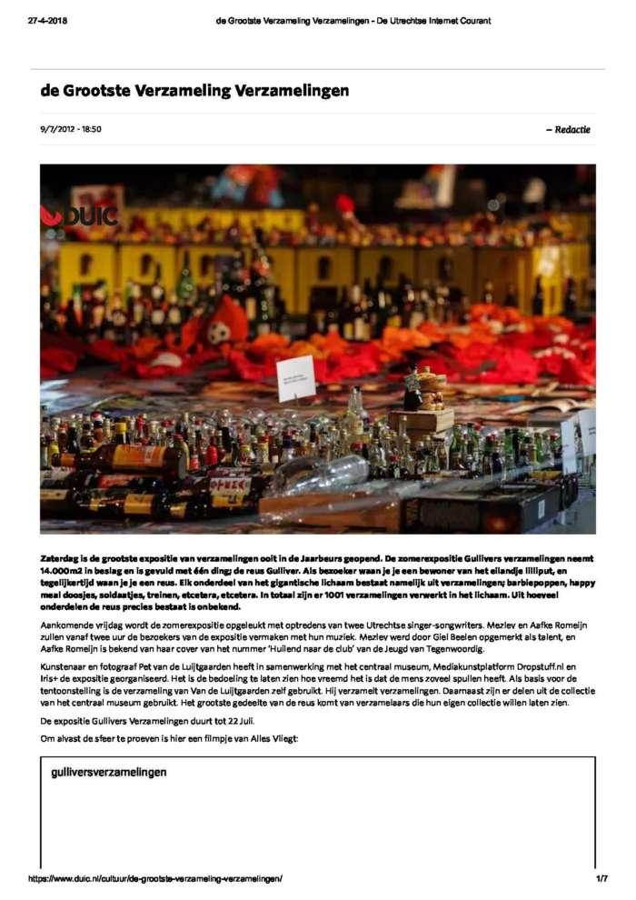 De Grootste Verzameling Verzamelingen De Utrechtse Internet Courant Page 1